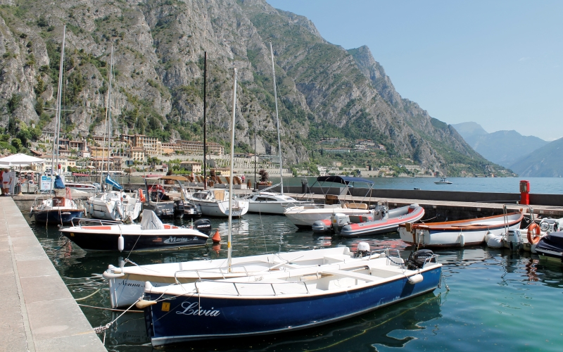 De haven van Limone sul Garda